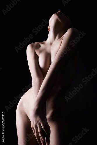 Foto op Aluminium Akt Young Sexy Woman perfect Body. Naked Girl