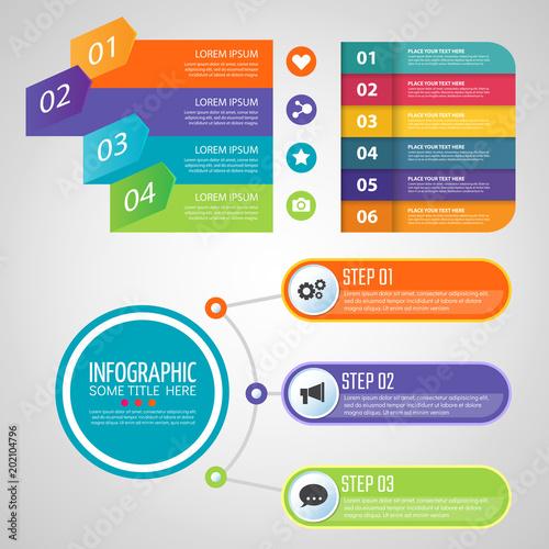 Pinturas sobre lienzo  Infographic design template Vector illustration