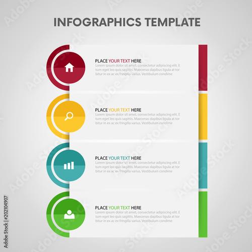 Photo  Infographic design template Vector illustration