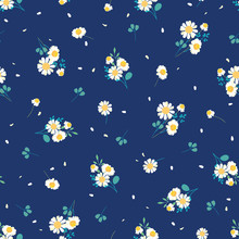 Sweet Daisies Ditsy Vector Sea...