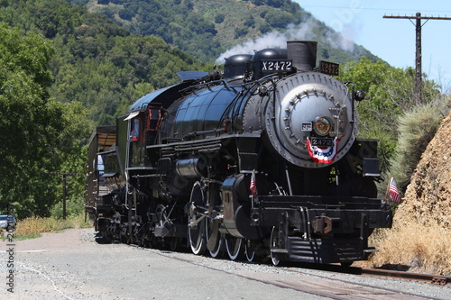 Fototapeta Northern California Steam engine obraz na płótnie