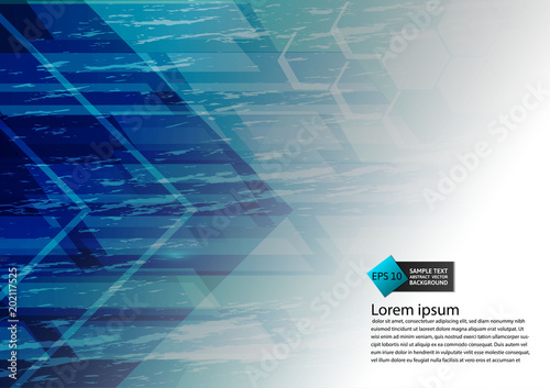 Blue Color Geometric Modern Design Abstract Background With