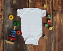 Mockup Flat Lay Of White Baby ...