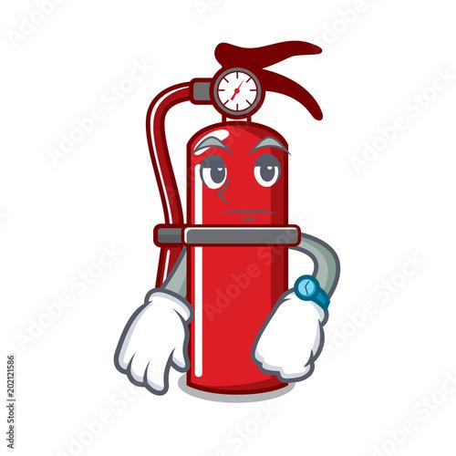 Fotobehang Indiërs Waiting fire extinguisher mascot cartoon