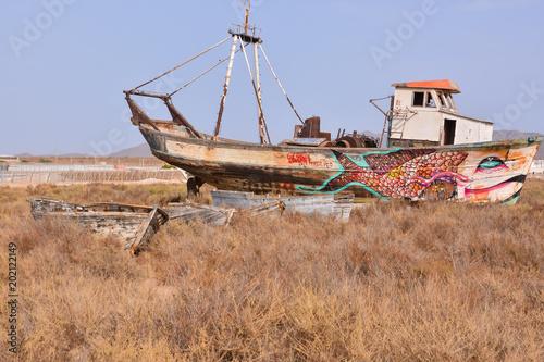 Keuken foto achterwand Schip Abandoned Old Ship