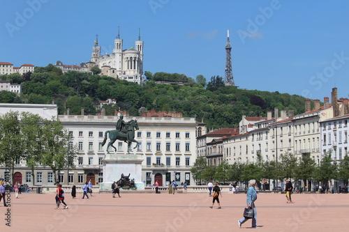 Fotografía  Place Bellecour à Lyon (France).