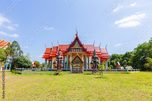 Foto op Aluminium Bedehuis The temple is the largest reclining Buddha in Thailand at Chanthaburi.