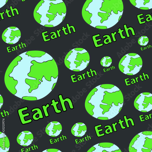 Seamless texture the dark planet - Buy this stock vector and
