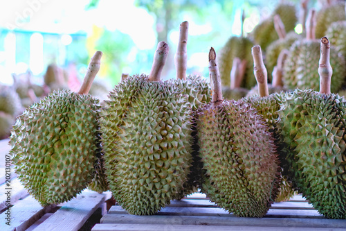 Foto  A stack of Durian monthong