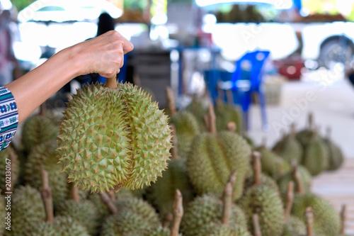 Foto  Ein Stapel Durian Monatong