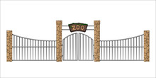 Zoo Gate. Isolated Object In C...