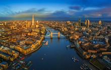 London, England - Panoramic Ae...