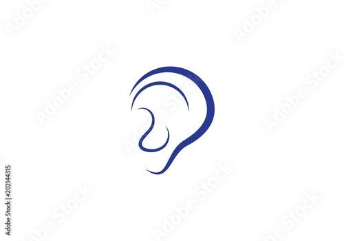 Valokuvatapetti Hearing Logo Template