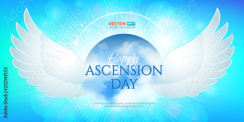 Greeting Card Or Banner To Ascension Day Of Jesus Christ Catholics