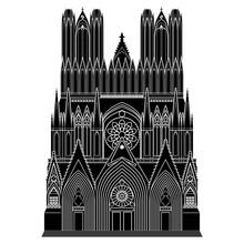 Cathedral Notre - Dame De Reims. France Tourist Attractions, Cathédrale Notre Dame De Reims