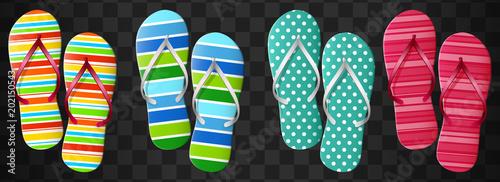 Flip flops set. Isolated vector design.