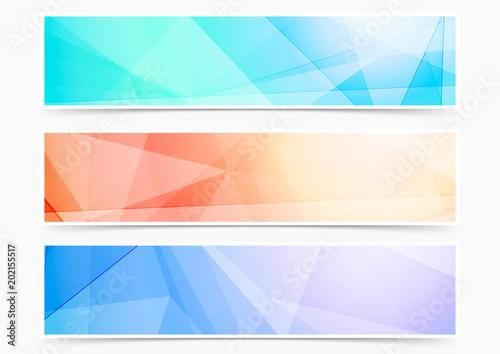 Fototapeta Bright triangular crystal pattern web header footer collection obraz