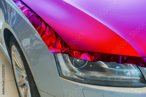 pasting of car carbonic plastic Canvas Print