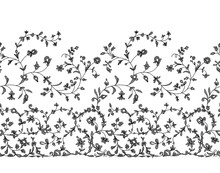 Floral Seamless Lace Ornament