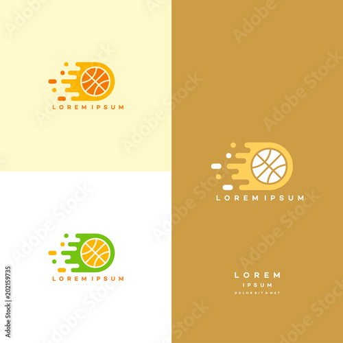 Fast Basket Ball Motion Logo Template Basketball Logo Designs Buy
