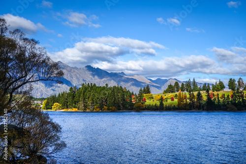 Poster Oceanië Lake Wakatipu, New Zealand