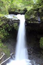 Beautiful Waterfall With Slow Motion Potrait Background