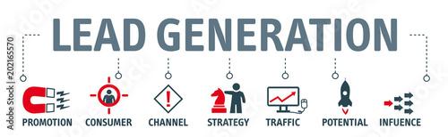 Photo Banner lead generation vector concept