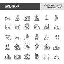 Landmark Vector Icon Set