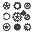 Set of vector cogwheels of different shapes