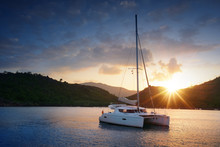 Yacht - Catamaran In The Tropi...