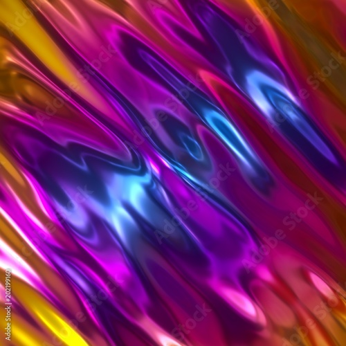 3d render abstract background iridescent holographic - Fluid wallpaper ...