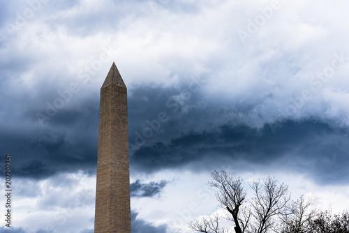 Fotografie, Obraz  Washington Monument during storm