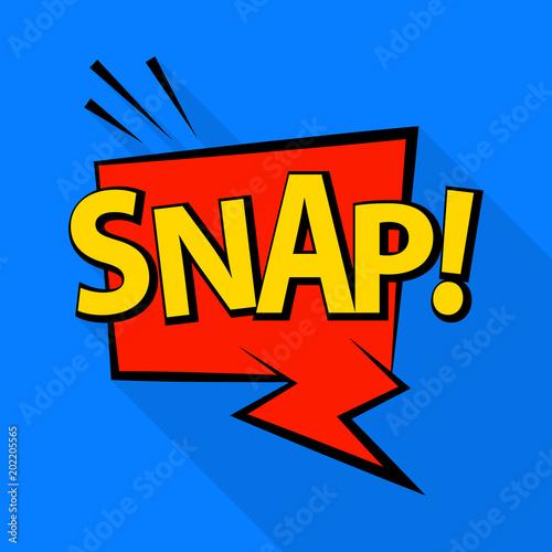 Foto Symbol einrasten Pop-Art-Illustration der Snap-Vektor-Symbol für das Web