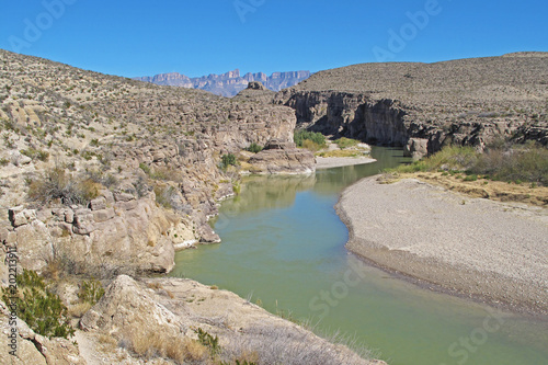 Foto op Canvas Rio de Janeiro Rio Grande River flowing through a Canyon along the Mexican border in Big Bend National Park, Texas, USA