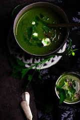 nettle soup  with Wild Garlic Oil