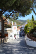 Street in Mijas Pueblo white village in Spain