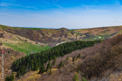 Foto op Canvas Cappuccino Spring Landscape