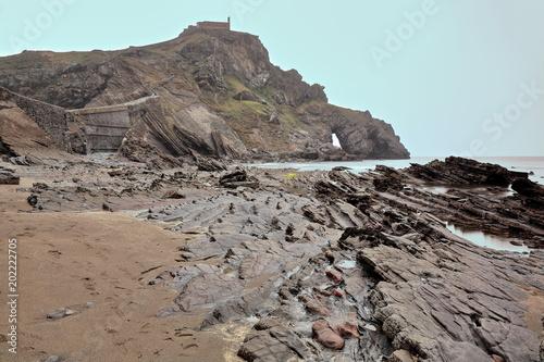 Gaztelugatxe islet with San Juan hermitage on top Poster