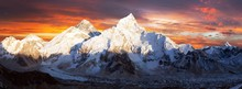 Mount Everest Sunset Panoramic...