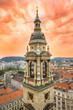 Budapest, Hungary - Aerial panoramic skyline of Budapest with Magical Sunset