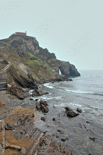 Photo  Gaztelugatxe islet with San Juan hermitage on top