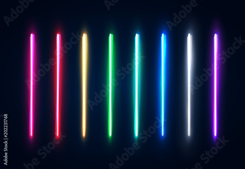 Halogen or led light lamps elements pack for night party or game design Canvas Print