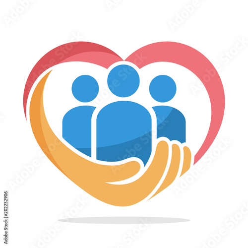 icon illustration with the concept of family care, care about humanity Fototapeta