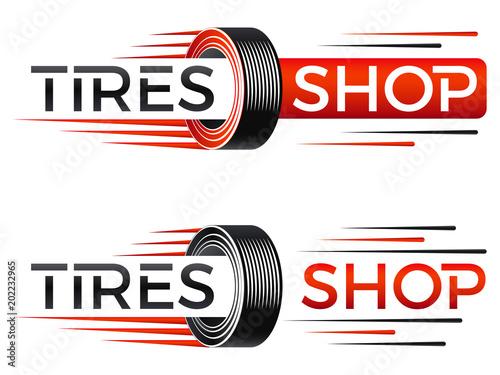 Valokuvatapetti Reifenhandel - Logo