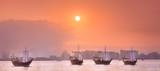Traditional Arabic boats in Doha harbour, Qatar