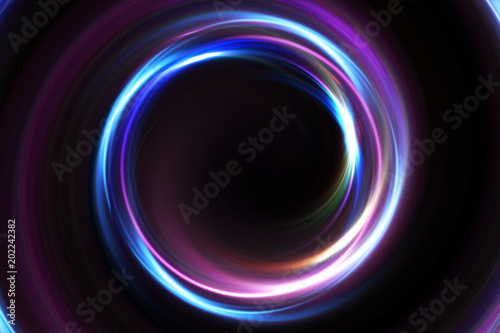 Fotomural  Abstract 3d illustration neon background