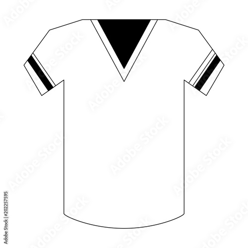 51d1eee90 american football jersey icon over white background