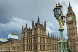 Fototapeta Big Ben - Houses of Parliament, Westminster Palace, London, England, Great Britain