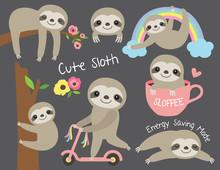 Vector Illustration Of Cute Ba...