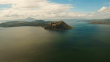 Aerial View Taal Volcano On Lu...